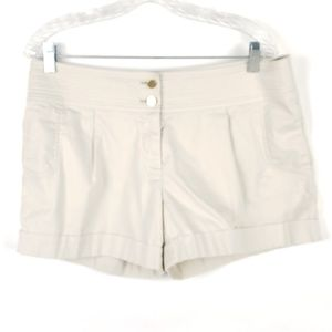 Tory Burch 12 High Waist Cuffed Khaki Shorts